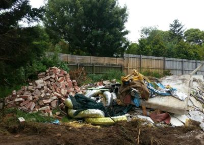 piles of rubbish and waste before we removed it